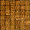"Susan Jablon 2"" x 2"" Glass Mosaic Tile in Cinnamon Shimmer Brown"