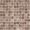 "Susan Jablon 1"" x 1"" Glass Mosaic Tile in Silver Taupe"