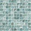 "Susan Jablon 1"" x 1"" Glass Mosaic Tile in Iced Aqua Steel Blue"