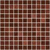 "Susan Jablon 1"" x 1"" Glass Mosaic Tile in Brown"