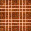 "Susan Jablon 1"" x 1"" Glass Mosaic Tile in Orange"