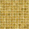 """Susan Jablon 1"""" x 1"""" Glass Mosaic Tile in Golden Opal"""