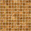 "Susan Jablon 1"" x 1"" Glass Mosaic Tile in Cinnamon Shimmer Brown"