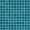 """Susan Jablon 1"""" x 1"""" Glass Mosaic Tile in Turquoise Blue"""