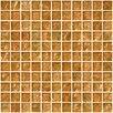"""Susan Jablon 1"""" x 1"""" Glass Mosaic Tile in Fire Bronze"""