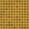 "Susan Jablon 1"" x 1"" Glass Mosaic Tile in Gold"