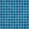 """Susan Jablon 1"""" x 1"""" Glass Mosaic Tile in Denim Blue"""