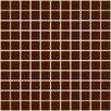 "Susan Jablon 1"" x 1"" Glass Mosaic Tile in Brown"