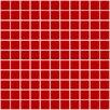 "Susan Jablon 1"" x 1"" Glass Mosaic Tile in Deep Tomato Red"