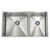 "Lenova 30"" x 10"" PermaClean Undermount Double Bowl Kitchen Sink"