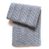Esteffi Chunky Cable Wool Blend Baby Blanket