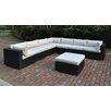 JB Patio 8 Piece Deep Seating Group with Cushion