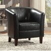 A&J Homes Studio Accent Leather Arm Chair