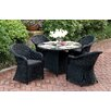 A&J Homes Studio Masden 5 Piece Dining Set with Cushions