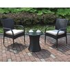 A&J Homes Studio 3 Piece Bistro Set with Cushions