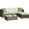 A&J Homes Studio Palm Spring 5 Piece Sectional Seating Group with Cushion