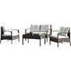 A&J Homes Studio 4 Piece Lounge Seating Group with Cushions
