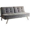A&J Homes Studio Riverside Tufted Flannelette Sleeper Sofa