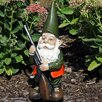 Waller Hank the Hunting Gnome Statue - Millwood Pines Garden Statues and Outdoor Accents