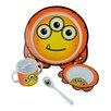 Junior D Hector the Monster Children 4 Piece Dinnerware Set