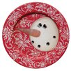 The Hearthside Collection Swirl Snowman Plate