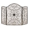 ABC Home Collection Decorative 3 Panel Metal Fireplace Screen