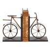 ABC Home Collection Vintage Metal Bicycle Book Ends (Set of 2)