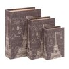 ABC Home Collection 3 Piece Fabric Book Box Set