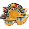 ABC Home Collection Gibson Elite 16 Piece Dinnerware Set