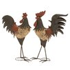 ABC Home Collection 2 Piece Rooster Statue Set