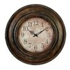 """ABC Home Collection 24"""" Antique Metal Wall Clock"""