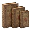 ABC Home Collection Charming 3 Piece Book Shaped Box Set