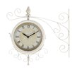 ABC Home Collection Wrought-Iron Outdoor Wall Clock