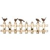 ABC Home Collection Weathered Picket Fence Wall Hook