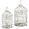 ABC Home Collection 2 Piece Elegant Victorian Style Bird Cage Set