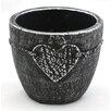 Heart Relief Cement Pot Planter - WGV International Planters