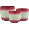 Holiday Jute 3-Piece Pot Planter Set - Color: Red - The Holiday Aisle Planters