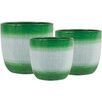 Holiday Jute 3-Piece Pot Planter Set - Color: Green - The Holiday Aisle Planters