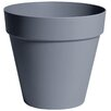 Slesnick Plastic Pot Planter - Size: 7.75 inch High x 6.75 inch Wide x 6.75 inch Deep - Color: Pebble Gray - Winston Porter Planters