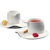 Deagourmet Materia 4 Piece Espresso Cup and Saucer Set