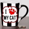 New Morning Imports 20 oz I Love My Cat Pet Stoneware Coffee Mug