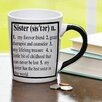 New Morning Imports 20 oz Sister Definition Stoneware Coffee Mug