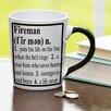 New Morning Imports 20 oz Fireman Definition Stoneware Coffee Mug