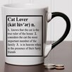 New Morning Imports 20 oz Cat Lover Definition Stoneware Coffee Mug