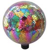 Mosaic Gazing Globe - Color: Red/Purple - Gardener Select Garden Statues and Outdoor Accents