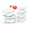 The Glass 10-Piece Square Food Container Set