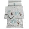 The Seasonal Aisle Frosty Woodland Placemat (Set of 2)
