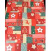 The Seasonal Aisle Christmas Quilt Wipe Clean Oblong Tablecloth