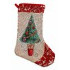 The Seasonal Aisle Tinsel Tree Stocking