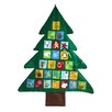 The Seasonal Aisle Christmas Tree Felt Wall Advent Calendar
